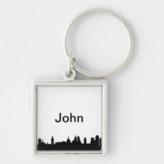 London skyline silhouette cityscape keychains