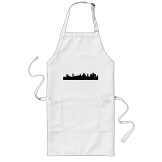 London skyline silhouette cityscape long apron