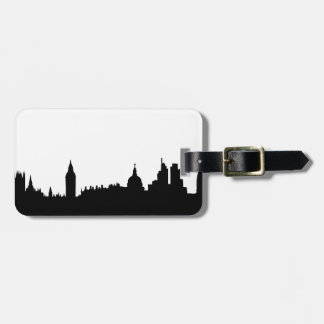 London skyline silhouette cityscape luggage tag