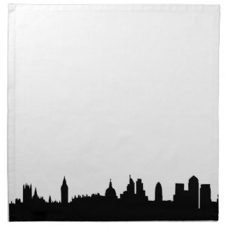 London skyline silhouette cityscape napkin