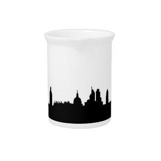 London skyline silhouette cityscape pitcher
