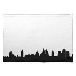 London skyline silhouette cityscape placemat