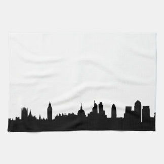 London skyline silhouette cityscape tea towel