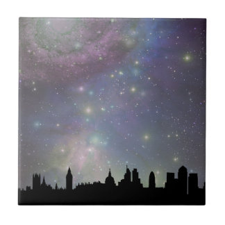 London skyline silhouette cityscape tile