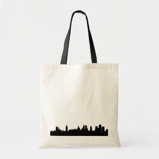 London skyline silhouette cityscape tote bag