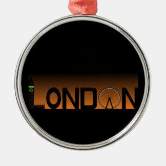 London skyline Silver-Colored round decoration