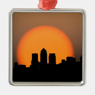 London skyline Silver-Colored square decoration