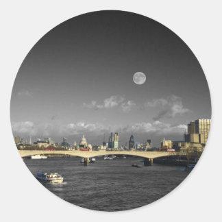 London Skyline Round Sticker