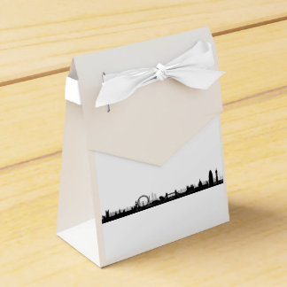 London Skyline Themed Party Favor Boxes Favour Box