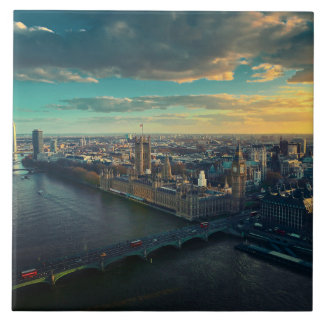 London skyline tile
