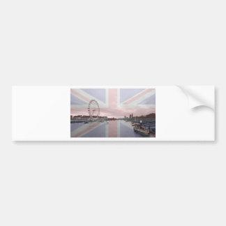 London Skyline Union Jack Flag Bumper Sticker