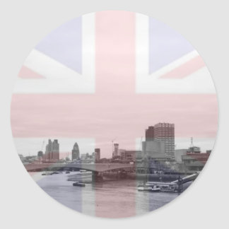 London Skyline Union Jack Flag Stickers
