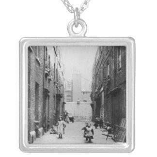 London Slums, 1899 Silver Plated Necklace