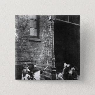 London Slums, c.1900 15 Cm Square Badge