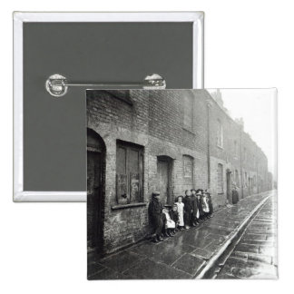 London Slums, c.1900 15 Cm Square Badge