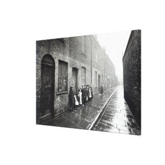 London Slums, c.1900 Canvas Print