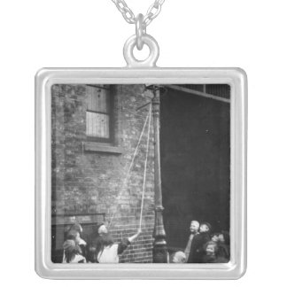 London Slums, c.1900 Silver Plated Necklace