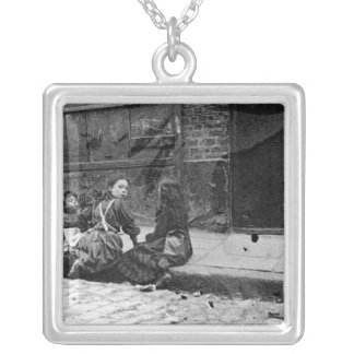 London Slums, Twine Court Silver Plated Necklace
