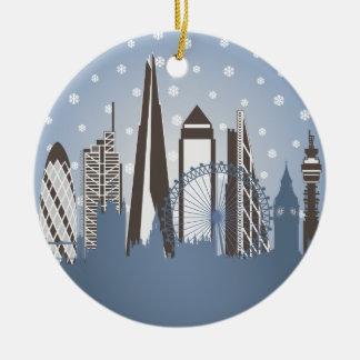 London Snowflakes Round Ceramic Decoration