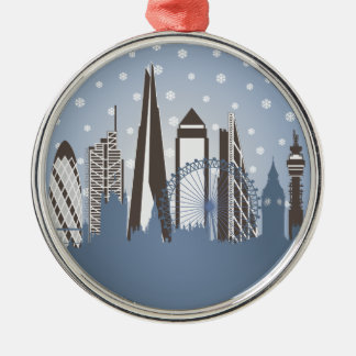 London Snowflakes Silver-Colored Round Decoration