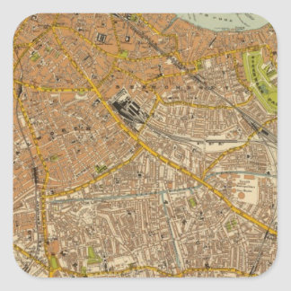 London Southeast Square Sticker