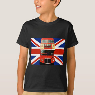 London Souvenirs & Gifts with Bus and British Flag T-Shirt
