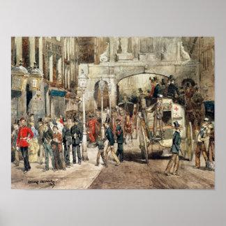 London Street, 1869 Poster