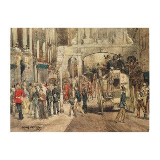 London Street, 1869 Wood Wall Art