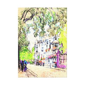 London Street 1901 Canvas Print
