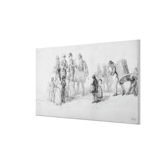 London Street Band, 1839 Canvas Print