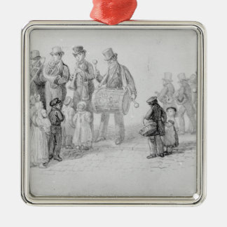 London Street Band, 1839 Silver-Colored Square Decoration