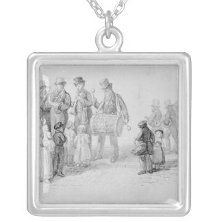 London Street Band, 1839 Silver Plated Necklace