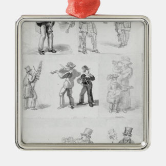 London Street Musicians Christmas Ornament