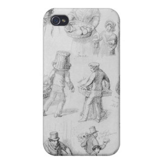 London Street Vendors: The Cries of London, 1843 Covers For iPhone 4