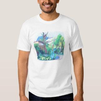 London Suburbia Painting T Shirts