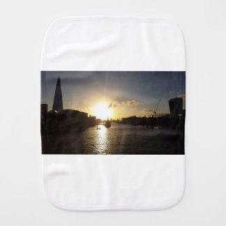 London Sunset Burp Cloth