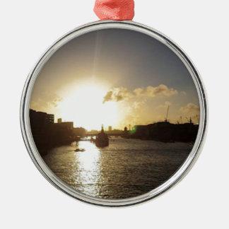 London Sunset Christmas Ornament