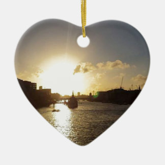 London Sunset Christmas Ornament