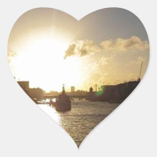 London Sunset Heart Sticker