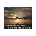 London Sunset, with Love quote Gallery Wrap Canvas