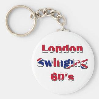 London Swinging 60s Basic Round Button Key Ring