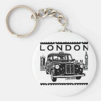 London Taxi Basic Round Button Key Ring