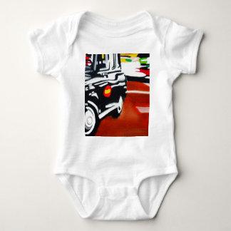 london taxi black cab design baby bodysuit