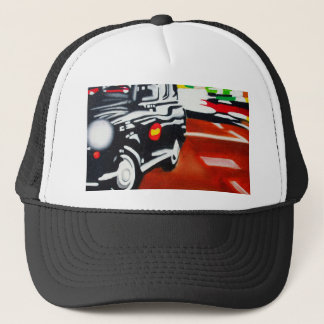 london taxi black cab design trucker hat
