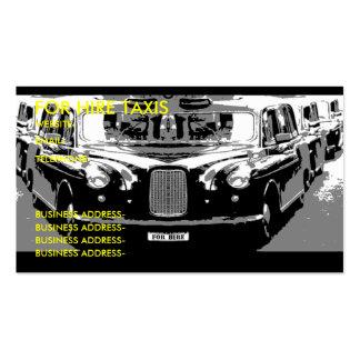 London taxi business card templates