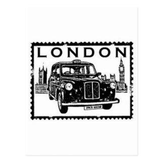 London Taxi Postcard