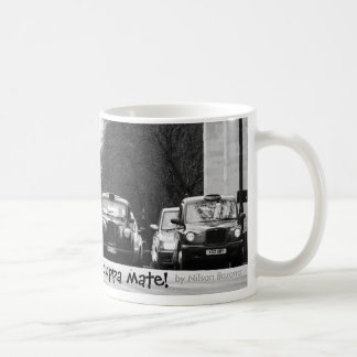 London Taxis, Just in time for a cuppa mate!, b... Basic White Mug