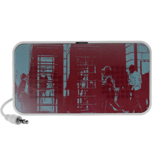 London Telephone Booth iPod Speakers