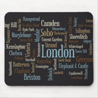 London Text Map Mouse Mat