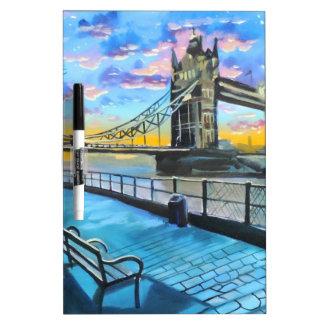 London Thames walk Dry Erase Board